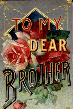vintage postcard brother