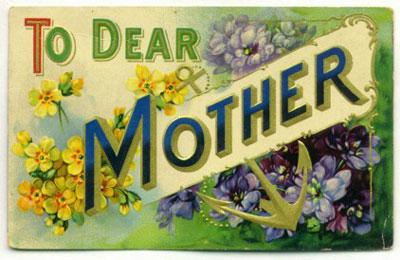 vintage mother postcard