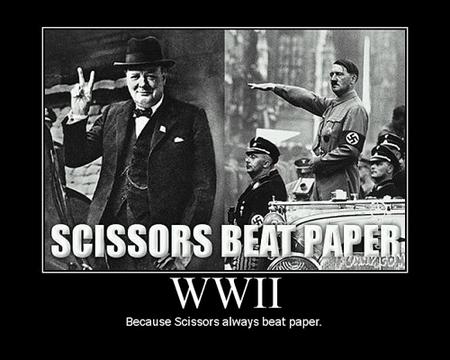 hitler rock paper sissors