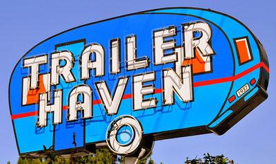 trailer neon sign