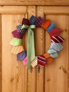 Neck tie wreath