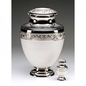 Elegant White Cremation Urn for Ashes