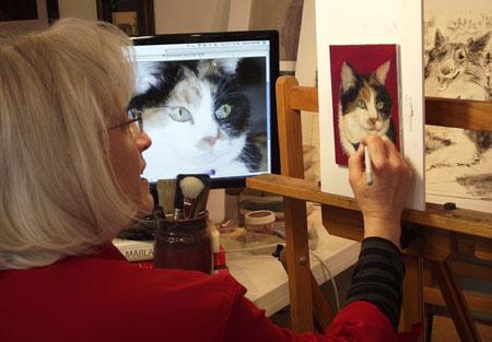 pastel pet memorial painting