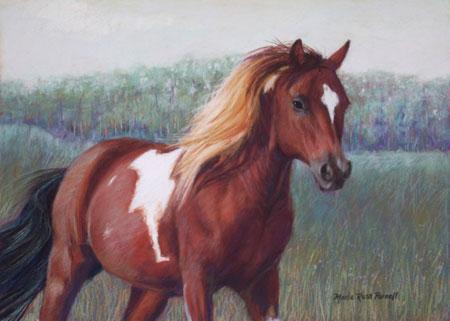 pastel horse memorial painting