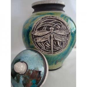 dragonfly cremation urn