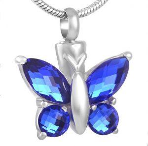 blue butterfly urn jewelry