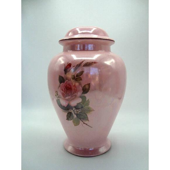 pink rose urn made in USA