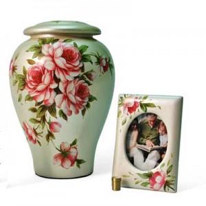 Tea Rose Cremation Urn