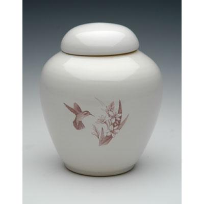hummingbird ceramic urn for 2 ashes
