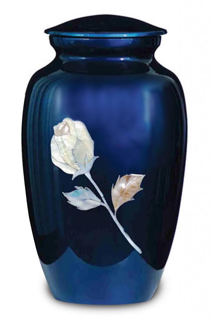 Blue rose urn for ashes