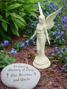 memorial garden stone