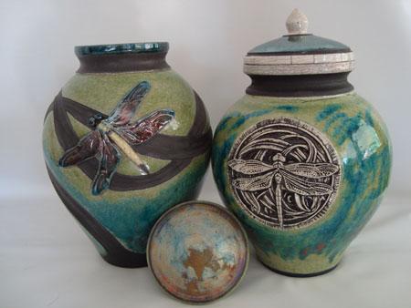 raku pottery urns