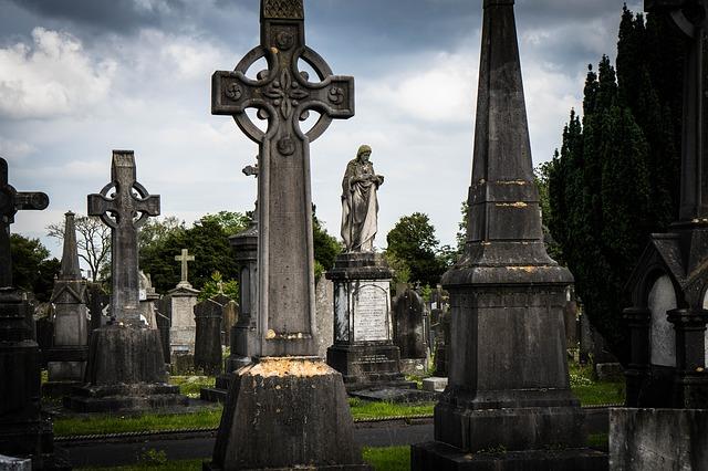 celtic cross grave stone