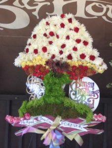 Mushroom Floral Arrangement Gregg Allman Funeral