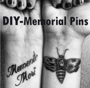 memorial pins diy
