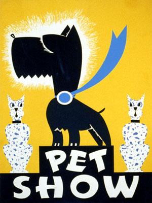 vintage pet show ad