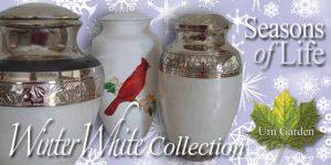elegant white cremation urns for ashes