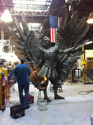 bronze angel St. Michael statue sculpture