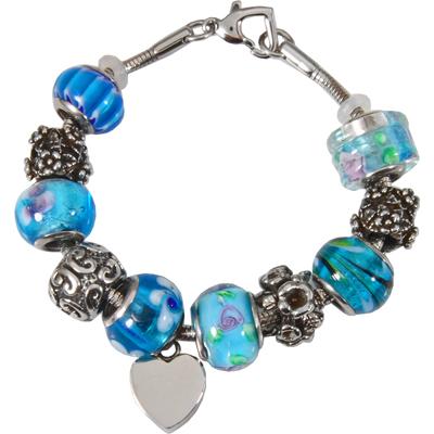 blue bead cremation bracelet