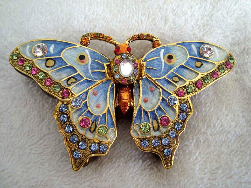 blue butterfly keepsake urn