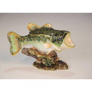Bass fishing mini cremation urn