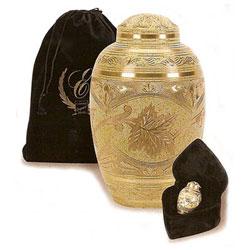 Cream Wash Cremation Urn