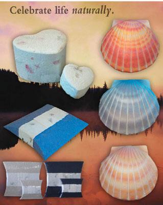 sea burial urns