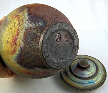 artist signed cremation urn