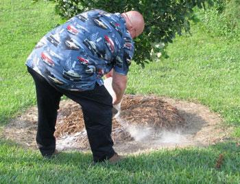 spreading ashes ceremony