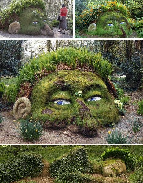 earth sculpture heligan gardens