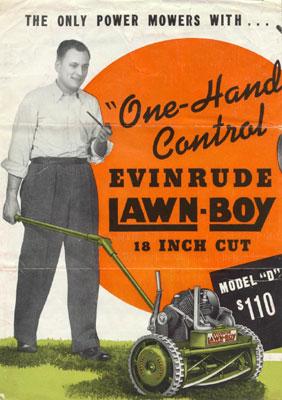 The Lawn-Boy power lawn mower