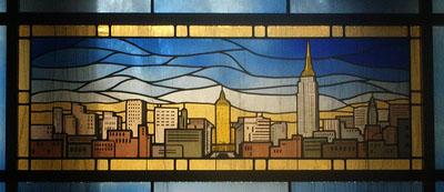 New York Skyline on Helmsley Crypt