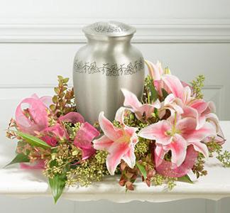 floral cremation urn memorial idea