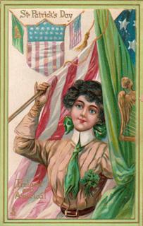 vintage st. pats card