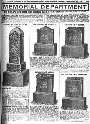 vintage sears funeral advertising