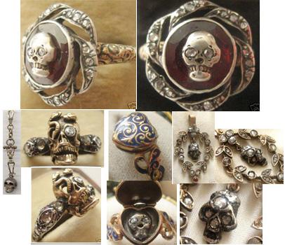 victorian memento mori  Victorian Memento Mori Jewellery