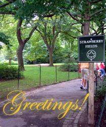 Urn garden greeting