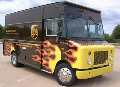 flamed ups truck