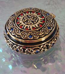 Celtic Starburst keepsake cremation urn