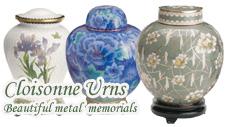 cloisonne urns
