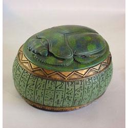Green Scarab Urn