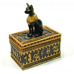 Bastet keepsake box for ashes