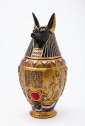 anubis egyptian urn