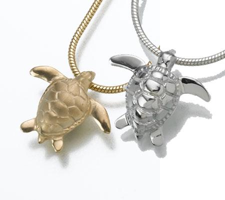 turtle urn pendant