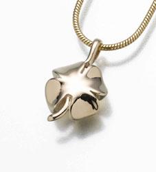 Gold Four Leaf Clover Urn Necklace