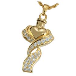 Gold Ribbon Urn Necklace