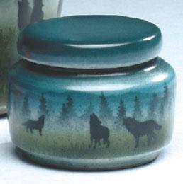 wolf urn