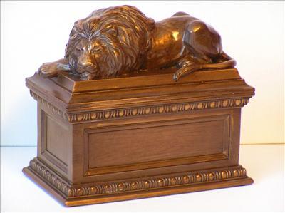 Brave Heart Lion Keepsake Urn