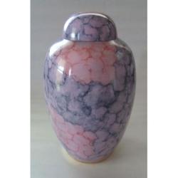 purple cremation urn