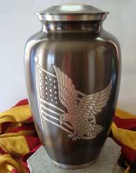 eagle cremation urn